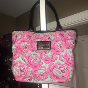 Betsey Johnson Bags - Betsey Johnson Pink and Teal Rose Bag